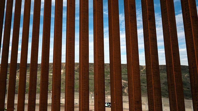 A section of the U.S.-Mexico border fence as seen from Tijuana, Mexico. The C...