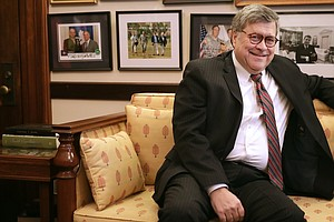 Attorney General William Barr Swears Oath Of Office After...