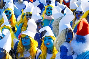 German Town Sees A Smurf Invasion, As Thousands Gather To...