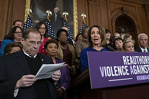 Violence Against Women Act Gets Tangled Up In Gun Rights Debate