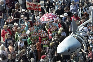Berliners Demonstrate Against 'Rent Sharks' In Fight Over...