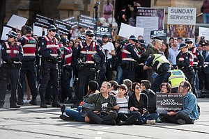 Vegan Protesters Block Downtown Melbourne In Coordinated ...