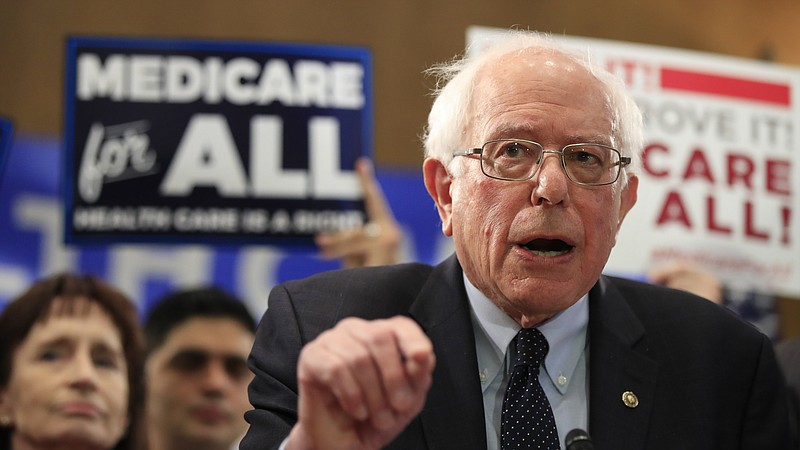 Sen. Bernie Sanders, I-Vt., introduced the Medicare for All Act of 2019 on Ca...