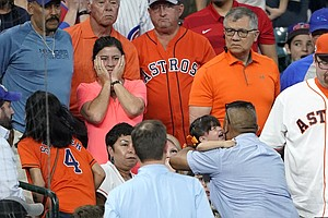 Child Struck By Foul Ball At Cubs-Astros Game; Player Breaks Down In Tears