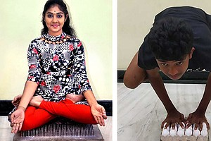 Teen Yogis Do Yoga On Nails And Eggs