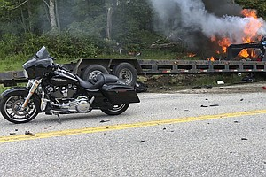 Pickup Truck In New Hampshire Collides With Marine Motorc...