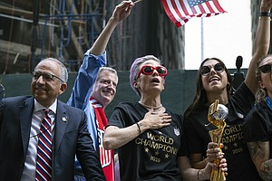 WATCH: Women's National Soccer Team Parades Through NYC's...