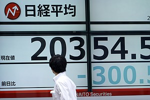 Asian, European Stocks Mixed After Recession Jitters Spar...