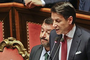 Italy's Premier Resigns In Fight Within His Coalition Gov...