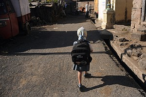 You Think Your Kid's School Backpack Is Heavy? See What's Going On In India!