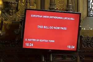 Britain's House Of Lords Approves Bill Blocking No-Deal B...