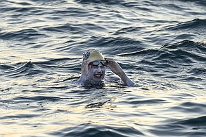 American Becomes 1st Person To Swim English Channel 4 Tim...