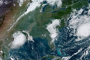 Storm Updates: Imelda Drenches Texas As Humberto Menaces Bermuda