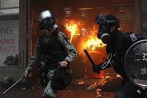 Hong Kong Protests: Chaotic Scenes Unfold In Streets Ahead Of China's Nationa...