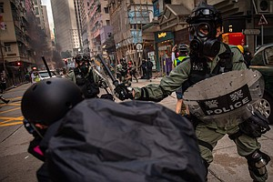 Hong Kong Protester Is Shot By Police As Clashes Over Dem...