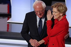 Progressives Sanders And Warren Lead Democrats In Fundrai...