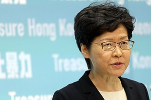 Hong Kong's Leader Warns 'No Options Ruled Out' If Protests Continue