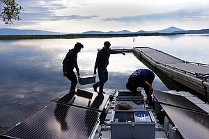 Pumping Oxygen In A Lake To Try To Save Fish Facing Clima...