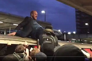 Video: Climate Activist Yanked From Top Of London Train A...