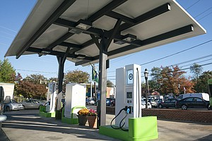 Gas Station Converts To Electric Charging Station And Spe...