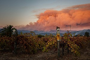 Smoke And Power Outages Near California Wildfires Hit Far...