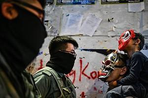On Halloween, Police Fire Tear Gas At Costumed Hong Kong ...