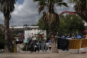 Mexican Official Tries To Move Asylum-Seekers Stuck In Tent Camps