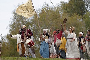 Hundreds March In Reenactment Of A Historic, But Long Forgotten Slave Rebellion