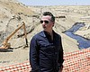 Gov. Gavin Newsom tours the Chevron oil field w...