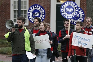 At Harvard, Grad Students Form A Picket Line Over Wages, Health Care And Prot...