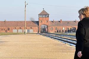 Merkel Tours Auschwitz With 'Sense Of Shame' And Warns Of Resurgent Anti-Semi...