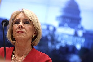 House Democrats Grill Betsy DeVos Over Denying Student Bo...