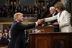 Trump Accepts Pelosi's Invite To Give State Of The Union As Impeachment Trial...