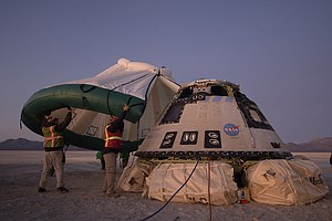 Boeing's Starliner Lands Safely Back To Earth After Aborted Space Station Mis...