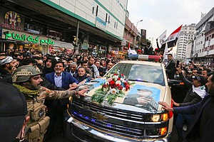 Qassem Soleimani Mourned By Thousands In Baghdad As U.S.-...