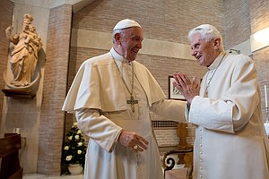 In New Book, Retired Pope Benedict Breaks Silence To Speak Out On Priestly Ce...