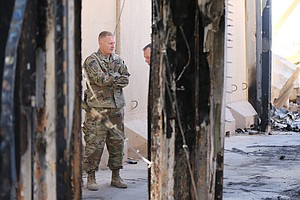 The Aftermath Of Iran's Missile Attack On An Iraqi Base Housing U.S. Troops