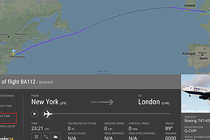 British Airways Sets Record, Crossing The Atlantic In Under 5 Hours In Strong...