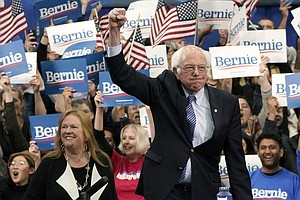 Bernie Sanders Narrowly Wins In New Hampshire, Taking Front-Runner Mantle