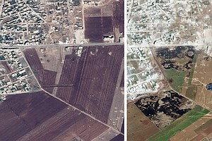 'There's Nothing Left': Satellite Images Show Razed Villages In Idlib, Syria