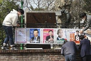 South Koreans Will Vote In Election In Masks And Gloves, Have Temperature Che...