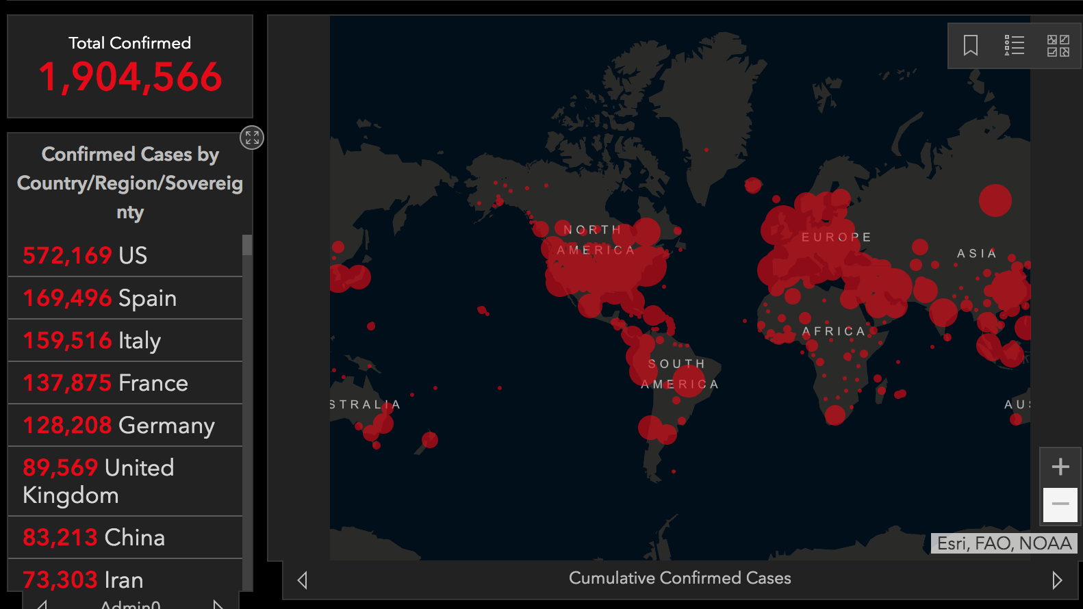 Mapping Covid 19 Millions Rely On Online Tracker Of Cases Worldwide Kpbs