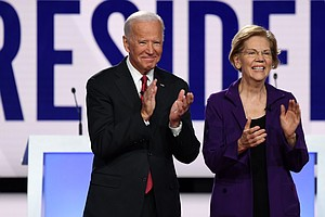 Elizabeth Warren Backs Biden, Extending Display Of Party Unity