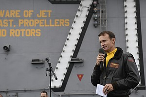 Photo for Navy Upholds Firing Of USS Theodore Roosevelt Capt. Brett Crozier