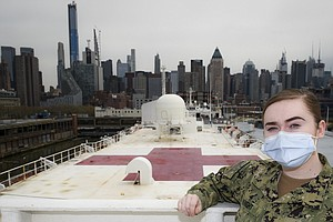 Hospital Ship USNS Comfort Scheduled To Sail From New York City