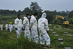 Fearing Infection, Some In Indonesia Refuse Nearby Burial Of COVID-19 Victims