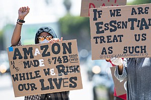 'We're Out There' So Protect Us, Protesting Workers Tell Amazon, Target, Inst...