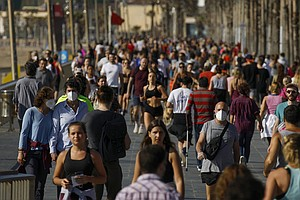 Adults In Spain Get A Bit Of Sunshine As Coronavirus Lockdown Partially Lifts