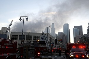 11 Firefighters Injured In Los Angeles Blaze, Explosion