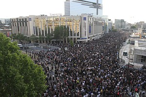'No Justice In France, Either': French Protest Police Killings In U.S. And At...